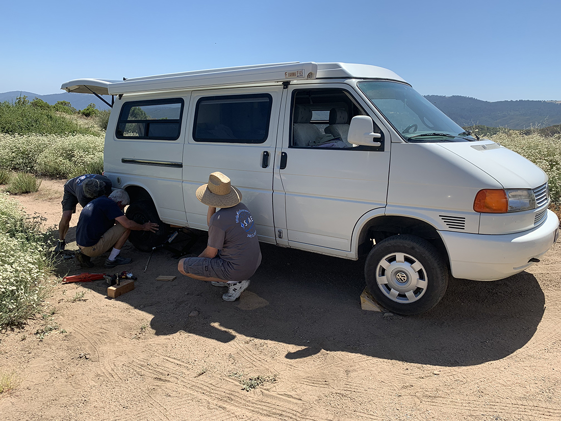 Flat Tire on Mountain road